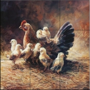 Mother Hen-LSH - Tile Mural