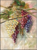 Grape Flourish-MT - Tile Mural