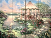 Garden Party-JK - Tile Mural