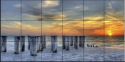 Naples Pilings I - SA - Tile Mural