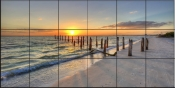 Sunset Pilings at Ft. Myers Beach - SA - Tile Mural