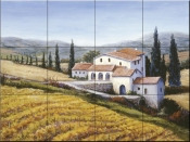 Autumn Comes to Tuscany - BF - Tile Mural