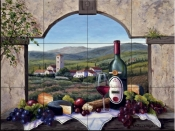 A Tuscany Vista - Tile Mural