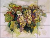 Golden Grapes - ED - Tile Mural