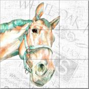 DL - Animal Faces Horse - Tile Mural