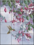 Broadtail and Fuschia    - Tile Mural