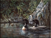 Loon Serenade    - Tile Mural