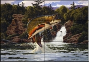 Brook Trout  2  - Tile Mural