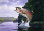 Rainbow Trout    - Tile Mural
