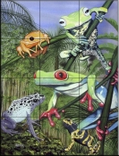 Tree Frogs    - Tile Mural