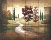 Autumn Scroll I    - Tile Mural