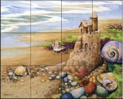 Castle By The Sea    - Tile Mural