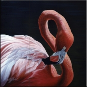 Figure 8 Flamingo    - Tile Mural