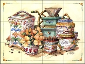 Antique Canisters    - Tile Mural