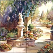 Fountain    - Tile Mural