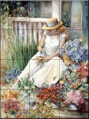 Flower Girl    - Tile Mural
