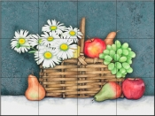 Fruit and Daisy Basket    - Tile Mural