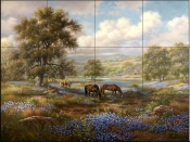 Peaceful Meadow    - Tile Mural