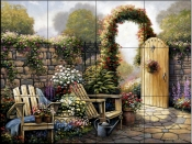 Garden Patio    - Tile Mural