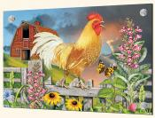 Yellow Rooster Greeting the Day-RS - Splashback Mural
