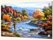 Fly Fishing-SK - Splashback Mural