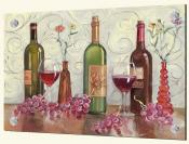 Grapes Wine and a Red Vase-TK - Splashback Mural