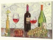 Grapes Wine and a Yellow Vase-TK - Splashback Mural
