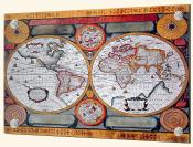 Antique Map Terre Universelle 1594 - Splashback Mural
