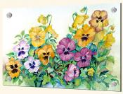 Amber Pansies - Solo Tile