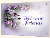 Welcome Friends - Splashback Mural